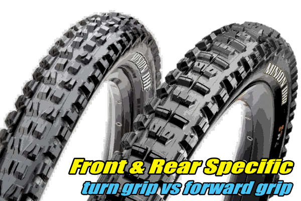 mtb tyres front rear specific