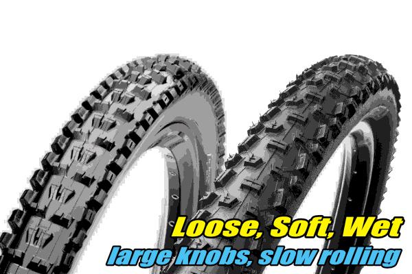 choosing mtb tyres loose soft