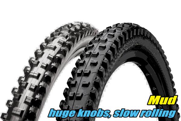 choosing mtb tyres mud