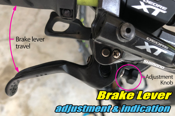 mtb brake lever adjustment